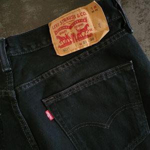 Levi's 501. Original Fit Men's Jeans. W33/L30. Blk